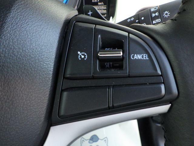 クルーズコントロールシステムで走行中にスイッチ設定、速度を自動に維持させますので高速運転などに便利です。