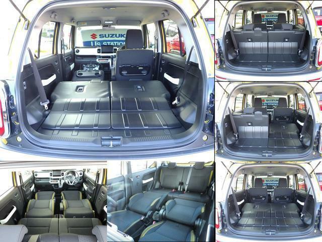 後席背面とラゲッジフロアは防汚タイプで汚れを拭き取りやすい素材を採用していますので濡れている物等も気兼ねなし積載出来ます。様々なシートの変化も可能です。フルフラットにして横になってゆっくりと休めます。