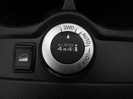 【切り替え式4WD】状況に応じて2WDモード、AUTOモード、LOCKモードの切り替えが可能。オンロードから、オフロード、雪道まで、安定した軽快な走りと確かな走破性を実現。