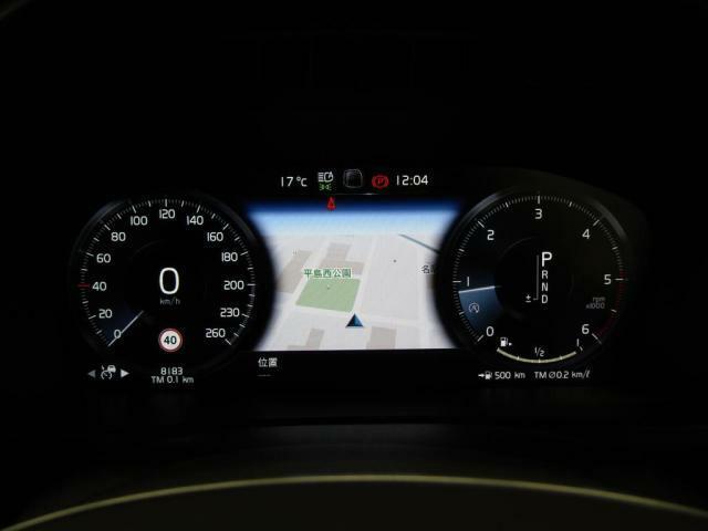 12.3インチデジタル液晶ドライバーディスプレイ:4種類のカラーテーマが選択可能。中央のインフォメーションディスプレイにはナビゲーション画面の表示も可能です。