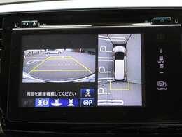リアカメラ付き!全方向の為、安心して駐車場できますね