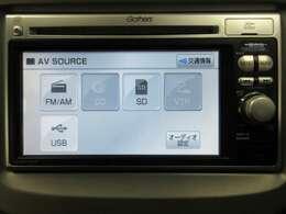 音楽ソースはCD/USB/SDカードに対応