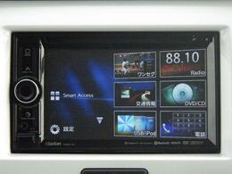 ワンセグTVやCD/DVD再生など 多彩なメディアに対応した メモリーナビを装備しています。