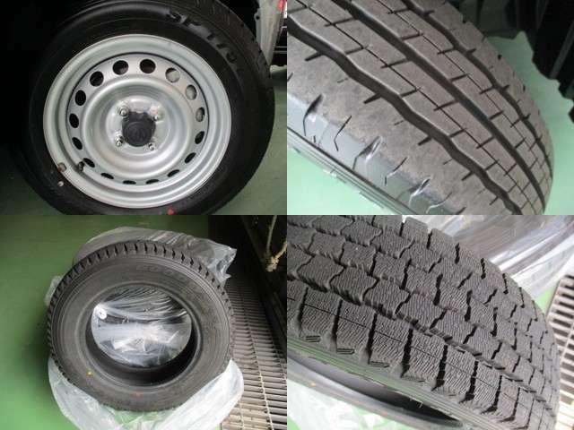 【タイヤ】夏タイヤ(溝7mm)スチールホイール 冬タイヤ(溝9mm)。中古タイヤでは不安だという方には、新品タイヤも各メーカをご用意しておりますのでお気軽にご相談下さい!