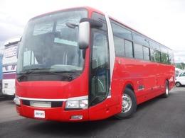 三菱ふそう エアロエース ハイデッカー 観光バス 55人乗り 6MT 全席モケリク 回転サロン 2列 ETC