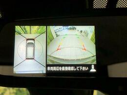【アラウンドビューモニター】フロント・サイド・バックにカメラが装備されていることで、上からの映像がモニター上に出ます!駐車時も安心ですね♪