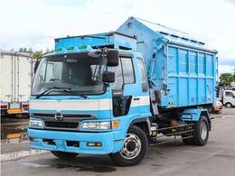 日野自動車 レンジャー アームロール 増トン 8.1t ツインホイスト コンテナ付き 電動油圧式天蓋