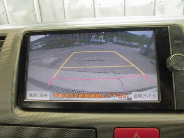 車庫入れに便利なバックカメラ!