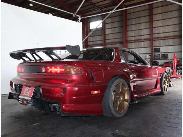 リアバンパーはユーラス180SX用&レガシィB4&Z11キューブフロントグリル&アンダーディフューザー&ステップワゴンフロントグリル&F1ストップランプを大胆に加工!他車種GTウイングも加工取付!
