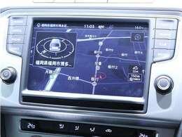 VW純正メモリーナビゲーション:CD/DVD、AM/FM、地デジTV、iPod接続対応、Bluetooth