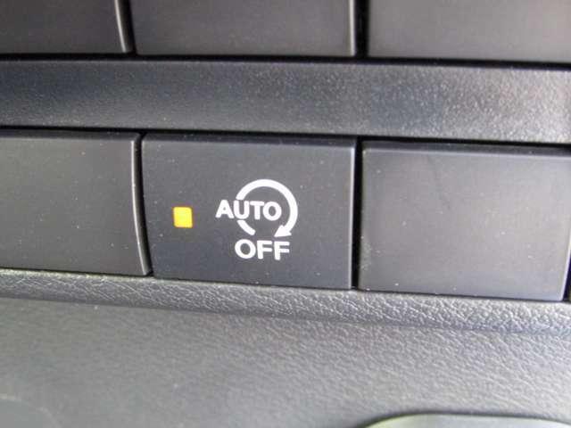アイドリングストップをさせたく無い時に押してください。普段はオン状態がエコですね♪