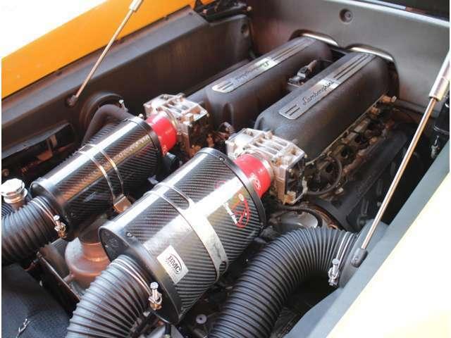 V型10気筒DOHCランボルEG!迫力の走りです!ランボルパワー520馬力(カタログ値)!自社整備施工OK、専用テスター完備!BMC社カーボン製OTA付!