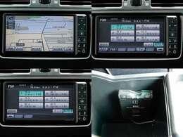 純正HDDナビ搭載。フルセグ地デジTV、HDD録音、DVD、CD、SD、Bluetooth等内蔵です。ナビ連動ETC付き。