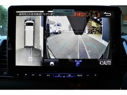 新メーカーオプション「パノラミックビューモニター」フロントカメラ映像です