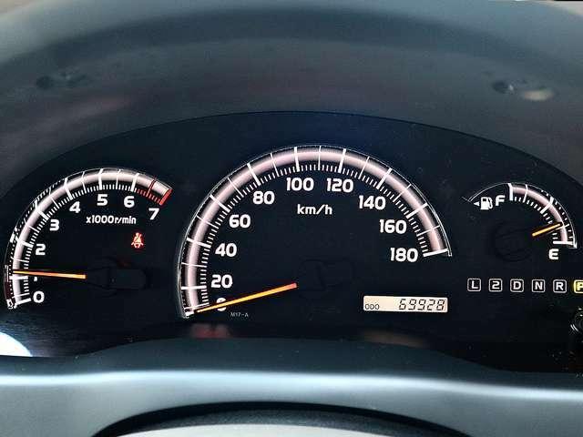 【メーター】現在の走行距離69,928kmでございます。