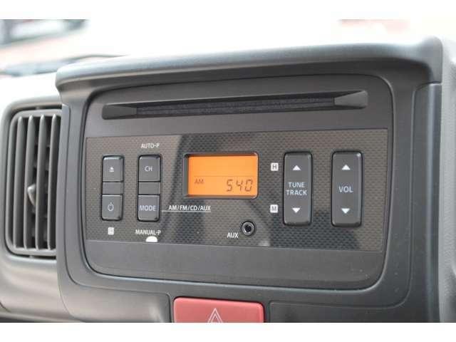 ♪FM&AMラジオ付CDプレーヤーが装備です♪