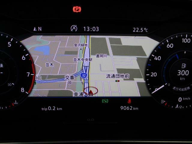 デジタルメータークラスター「Active Info Display」を装備、ナビ画面も表示可能!!