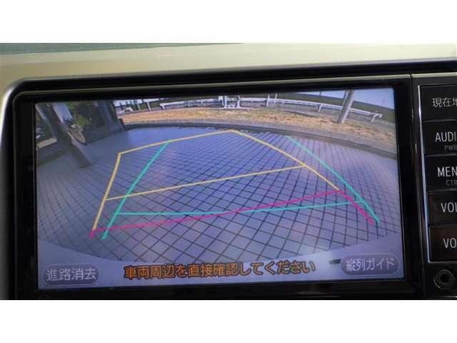 車庫入れ、縦列駐車をサポート。後方確認ができて便利なバックガイドモニター付き