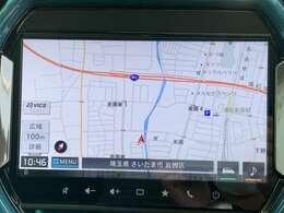 全方位モニター付きメモリーナビゲーションは9インチの高画質ディスプレイでとても見やすいですよ☆運転席からも助手席からも見やすく操作もしやすいんです☆AppleCarPlayやandroidAutoにも対応☆