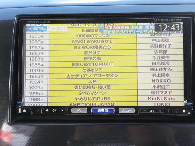 フルセグTV/DVD再生(*^^)v