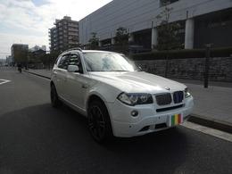 BMW X3 2.5si 4WD 外19AW 黒革 SR Bカメ ドラレコ ETC 同色P