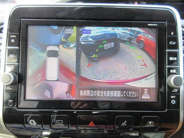 アラウンドビューカメラ付きですので全方位の確認が可能で車庫入れも楽々です♪
