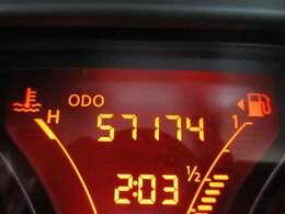 走行距離は約5万7千kmです。まだ走れるので一緒にドライブに出かけましょう!