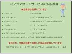 ミノシマオートサービスでは、『毎日安心して楽しめるクルマ』にこだわります。専門店ならではの安心感をご提供致します!