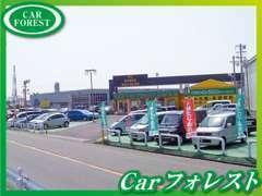 展示場中央には広い間口!!良質車を多数揃えています!!