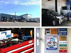 北海道運輸局指定工場も完備しております!お車のメンテナンスや車検もこちらで承っております!