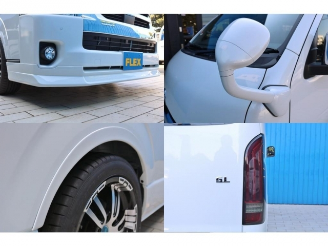 FLEXフロントリップスポイラー・ガッツミラー同色塗装・FLEXオーバーフェンダー・FLEXアルティメットLEDテールランプ!FLEXオリジナルパーツで仕上げました!
