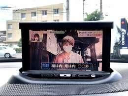 ご乗車中にテレビもご視聴頂ける1台!搭載チューナーは画質の良いフルセグタイプ エンタメ機能も充実しており退屈致しません◎