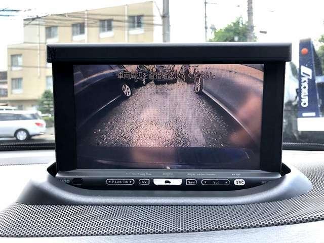 大きなボディのお車には必須のバックカメラも搭載☆運転に不安がお有りのユーザー様でも安心 安全◎