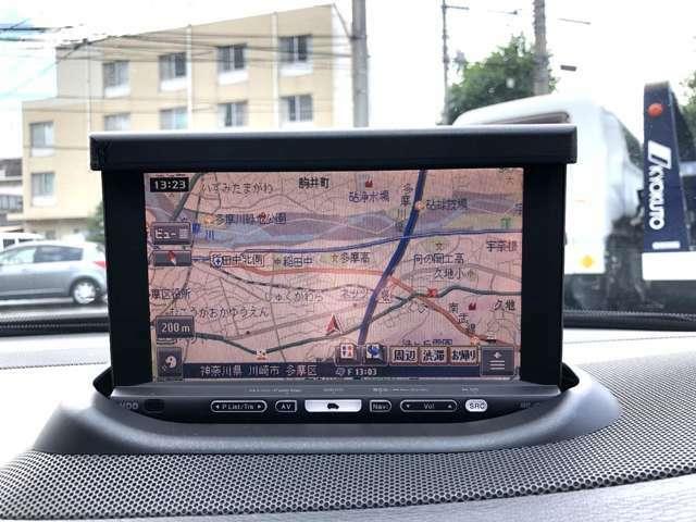便利な純正ポップアップ式HDDナビ付V70☆当時の純正OP品カロッツェリアのナビになりますので操作性も良く便利です♪