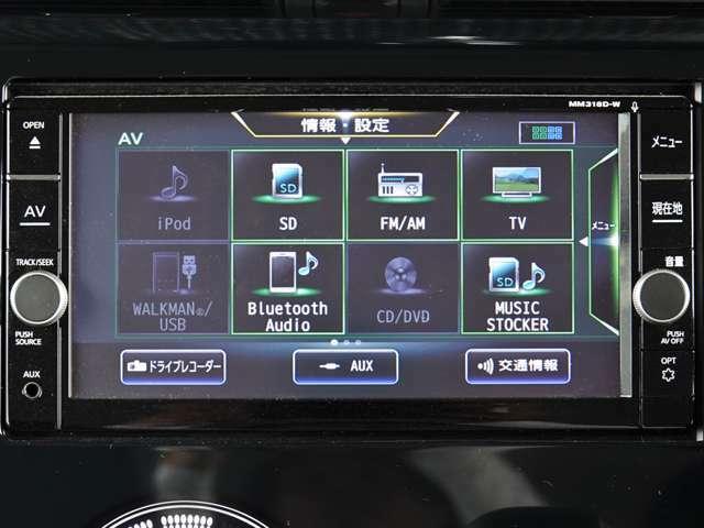 純正メモリーナビ/フルセグ MM318D-W CD・SD・DVD・Bluetpothオーディオの再生~♪ ミュイージックストッカーあり♪ ipod・WLKMAN接続対応~