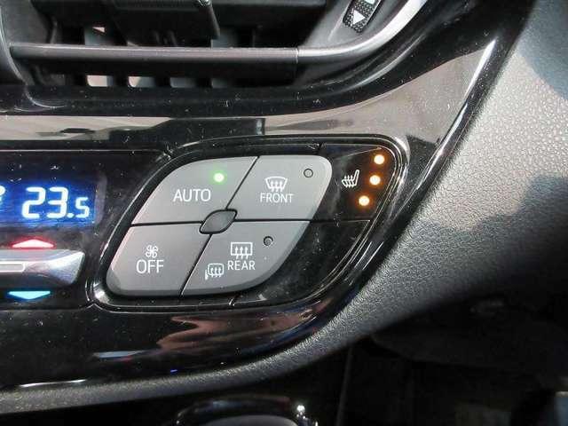 運転席&助手席にシートヒーターを装備。寒い日や夏の冷房中に冷えやすい脚部なども、すぐに暖かで快適です♪
