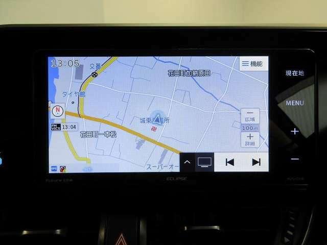 SDナビ(フルセグテレビ付)搭載!!初めての道や遠出の際でも安心&便利です♪