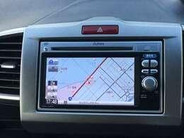 ナビゲーションはギャザーズメモリーナビが(VXM-118VS)装着されております。AM、FM、CDがご使用いただけます。土地勘の無い所でも道に迷わず安心ですね!ドライブが一層楽しくなります!