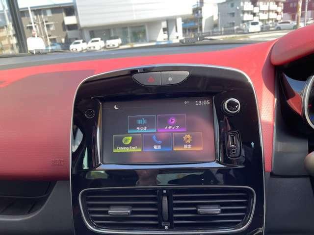 純正の7インチタッチスクリーンオーディオは、USBやBluetoothに対応。