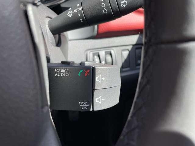 ステアリング右裏には、オーディオのリモコンを装備。