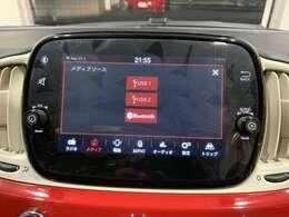 7インチタッチパネルモニター付Uconnect/Bluetoothも接続可能です。