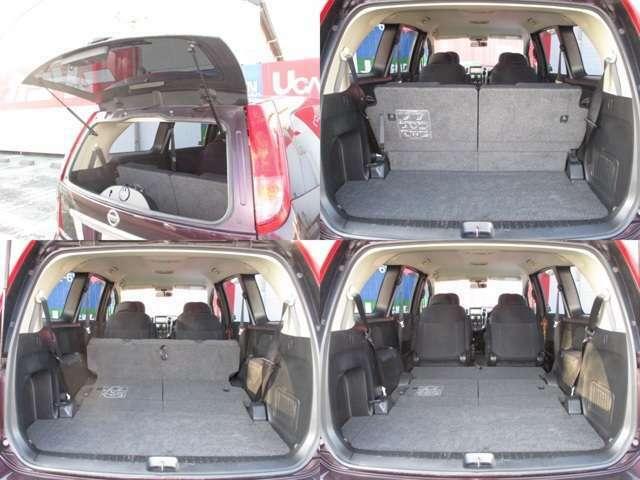 サードシートを倒せばラゲッジスペースも確保できますよ!