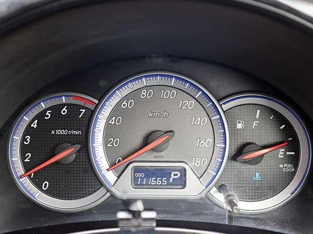 【メーター】現在の走行距離111,665kmでございます。