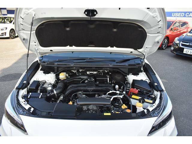 スバルの代名詞【水平対向エンジン】搭載!軽量かつコンパクトで走行安定性に大きな力を発揮します♪