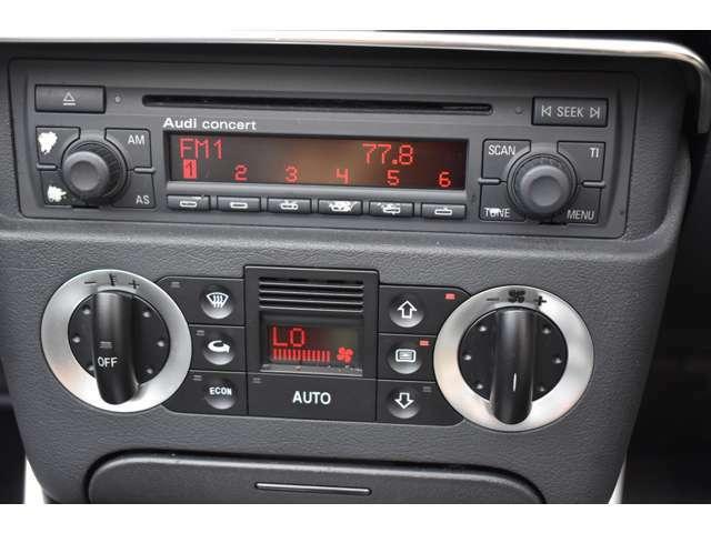 ★純正CDオーディオ オートエアコン エアコンもしっかりと効いております。
