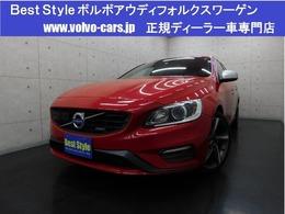 ボルボ V60 T4Rデザインセーフティ&ポールスターpkg 黒革/純正HDD/Bカメラ/ETC/HID/1オナ/保証