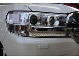 LEDは本当に明るくて安全です。暗い夜道からお客様を守ってくれます。運転しやすいですし、自慢にもなるかも?黄色いハロゲンライトと見比べてください。
