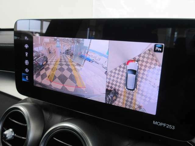 レーンアシスト付き360度カメラ:不安な駐車もこれで安心!レーンアシスト付きなので狭い箇所での駐車もラクラクです!