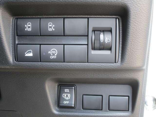 両側電動スライドドアは、室内スイッチやリモコンキーからでも開閉操作が出来ます。