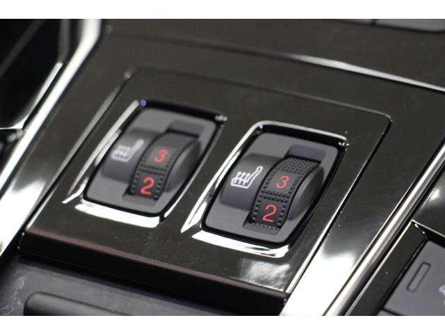 フロントシートには、3段階の調整が可能なシートヒーターを装備しているので、冬のドライブも快適に楽しんで頂けます。